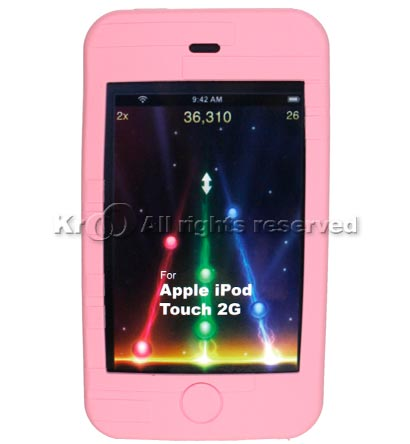 PINK SILICONE SKIN CASE FOR APPLE IPOD TOUCH 2G Our Price: $8.00